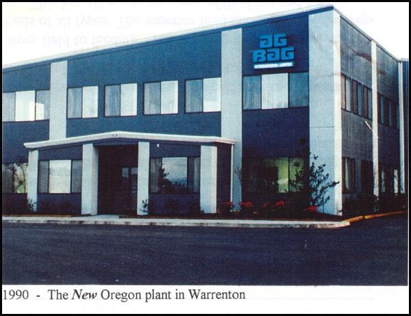 1990 - The New Oregon plant in Warrenton